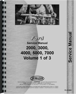 Ford 2000 3000 4000 5000 7000 Series Tractor Service Manual