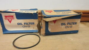 2 Vintage Conoco Oil Filter Cn 13 New Old Stock In Box