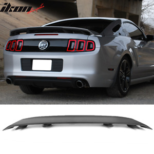 Fits 10 14 Ford Mustang Ls Style Trunk Spoiler Matte Black Abs