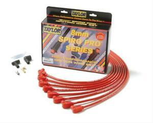 Taylor Cable Spark Plug Wires Spiro pro Race fit 8mm Red 90 Degree Boots Sbc Set