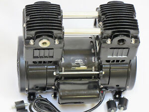 Oil less Vacuum Pump twin Piston 12cfm Push pull Compressor Medical Science Lab