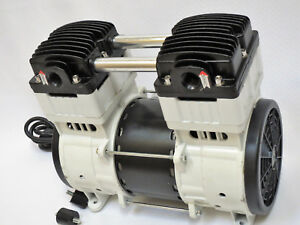 Oilless Vacuum Pump twin Piston 10cfm Industrila Continuous Duty Dental Lab 110v