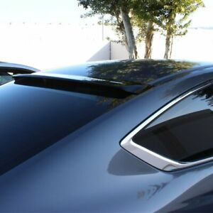 Fit 2013 2017 Honda Accord Coupe Black Abs Rear Window Roof Visor Spoiler Wing