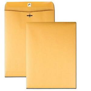 Clasp Envelopes With Deeply Gummed Flaps 9 X 12 Packed In 250 Count Brown Kraft