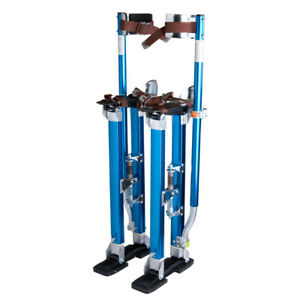 Blue 24 40 Adjustable Aluminum Drywall Stilts For Painting Painter Taping