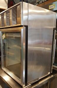 True Stainless Front Rear Glass Door Counter Cooler Refrigerator Display Gdm