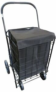 Upt Extra Large Heavy Duty Folding Shopping Laundry Storage Cart With