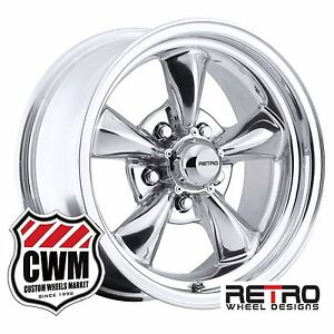15 Inch 15x7 Retro Polished Wheels Rims 5x4 75 0mm 4 00 Backspace Buick 64 81