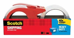 Scotch Heavy Duty Shipping Packaging Tape With Dispenser 1 88 inch X 54 6 yar