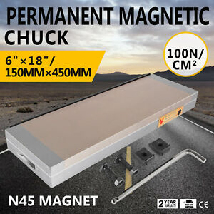 Fine Pole Permanent Magnetic Chuck 618 Inch For Grinding Machine