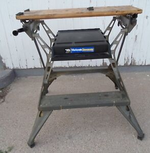 Vintage Black & Decker Workmate Portable Work Table Folding Bench Cast Aluminum