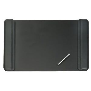 Artistic 24 X 38 Sagamore Executive Designer Flip Side Panel Desk Pad Black