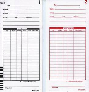 1000 E7 Time Cards For Lathem 7000e And Lathem 7500e Calculating Time Clock
