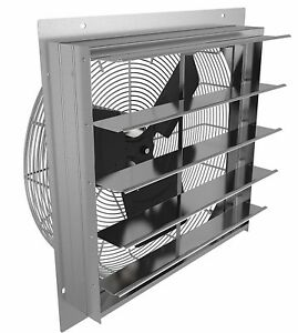 10 Industrial Exhaust Shutter Fan Wall Mountable Only For Garage Shop And Barn