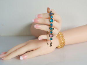One pair Realistic Female Mannequin Hands Model Jewelry Display Built in Joint