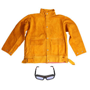Welding Jacket Protective Clothing Apparel Welding Goggles Arc Tig Mig