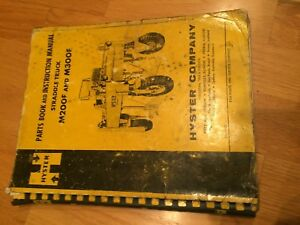 Hyster Compactor Straddle Truck 200 400 Owner Operator Manual Parts Maintenance