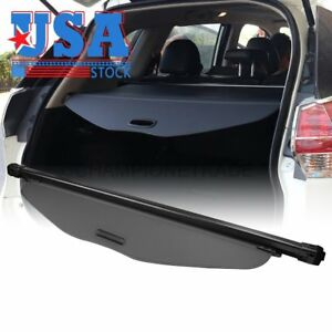 Us Black Rear Trunk Retractable Cargo Cover Shade For 14 17 Nissan Rogue X trail