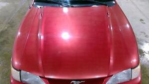 94 98 Ford Mustang Hood Assembly Laser Red E9