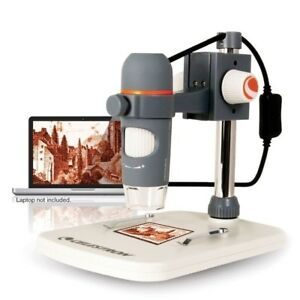 Handheld Digital Microscope Pro Celestron 5 Mp 4 Foot Usb 2 0 Cable Stand