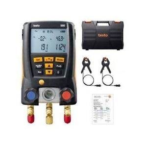 Testo 550 Refrigeration Digital Manifold Kit 0563 1550 With 2pcs Clamp Probes