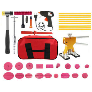 37pc Pdr Tools Glue Sticks Paintless Dent Puller Tabs Auto Body Repair Small Kit