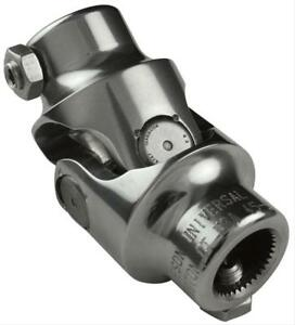 Borgeson Steering Universal Joint Stainless Polished 3 4 36 spline 3 4 Dd Ea