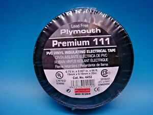 100 Plymouth 4452 3 4 7mil 66ft Pvc Vinyl Professional Electrical Tape Black