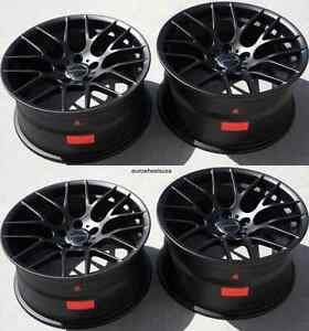 19 Avant Garde M359 Black Wheels Fit Bmw E46 M3 Staggered Rims 19x9 0 19x10 0