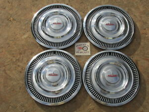1963 Oldsmobile F 85 Dynamic 88 Holiday Starfire 14 Wheel Covers Hubcaps 4