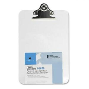 S p Richards Company Transparent Plastic Clipboard 6 X 9 Inches Clear