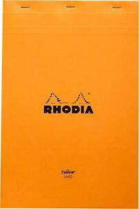 Rhodia Classic Staple Bound Lined Paper Pad In Yellow