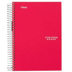 Five Star Spiral Notebook 1 Subject College Ruled Paper 100 Sheets 7 X