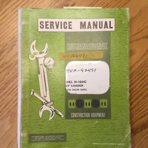 Hough International H 120c Pay Loader Service Shop Repair Manual Wheel Shovel