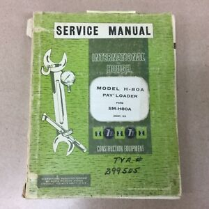Hough International H 80a Pay Loader Service Shop Repair Manual Wheel Shovel