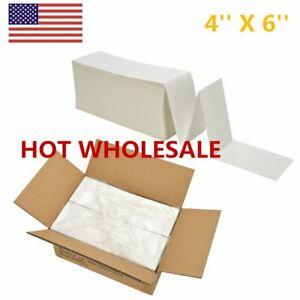 4 X 6 Fanfold Thermal Shipping Labels For Zebra 2844 Rollo Printer Ups Fedex