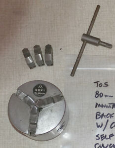 Tos 3 Jaw 80mm Chuck W Din 55021 For Use W Emco Compact 8 Lathe 1016_t