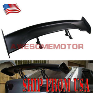 Us Universal Fit 56 Gt Style Black Car Rear Trunk Spoiler Wing For Honda Civic