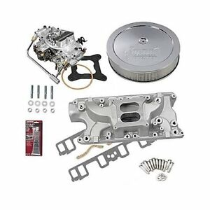 Sbf 289 302 Ford Stage 2 Intake Manifold 750 Cfm Carb Air Cleaner Combo