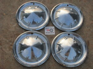 1960 Ford Galaxie 500 Sunliner Starliner 14 Wheel Covers Hubcaps Set Of 4