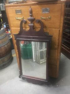 C1940 Classic American Chippendale Style Mirror Mahogany Frame 49 X 23 5 8