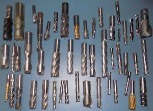 End Mills Cutters Huge Lot Of 50 New Unused Assorted Sizes 1 4 2