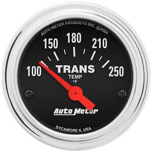 Autometer 2552 Traditional Chrome Electrical Transmission Temp Gauge 2 1 16 Dia