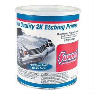 Summit Racing Paint 2 stage Etching Primer Flat Gray 1 Gallon Each