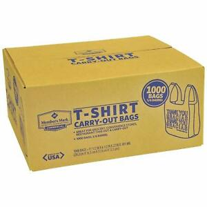 T Shirt Carry Out Thank You Plastic Shopping Grocery Bags 1000ct 100 Recyclable