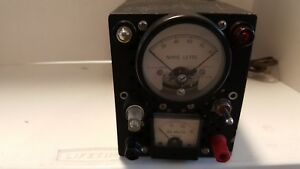 Vintage Noise Level Ma Locking Fs 100 Ua Dc 423 1181r1 Simpson Dc Volts Meter