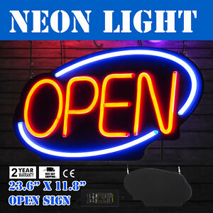 Horizontal 23 6 x11 8 Neon Open Sign 60w Led Light Fraternity Houses Window