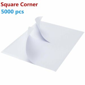 5000 8 5x5 5 Shipping Mailing Labels Half Sheet Self Adhesive For Ups Fedex