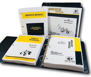 Service Manual Parts Catalog John Deere 400 Jd400 Wheel Tractor Loader Backhoe