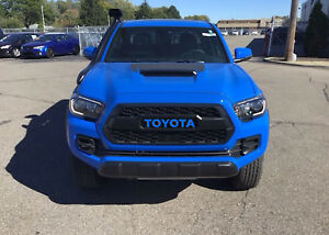 Trd Pro Grille Voodoo Blue Vinyl Decal Inserts For 2016 2019 Toyota Tacoma New